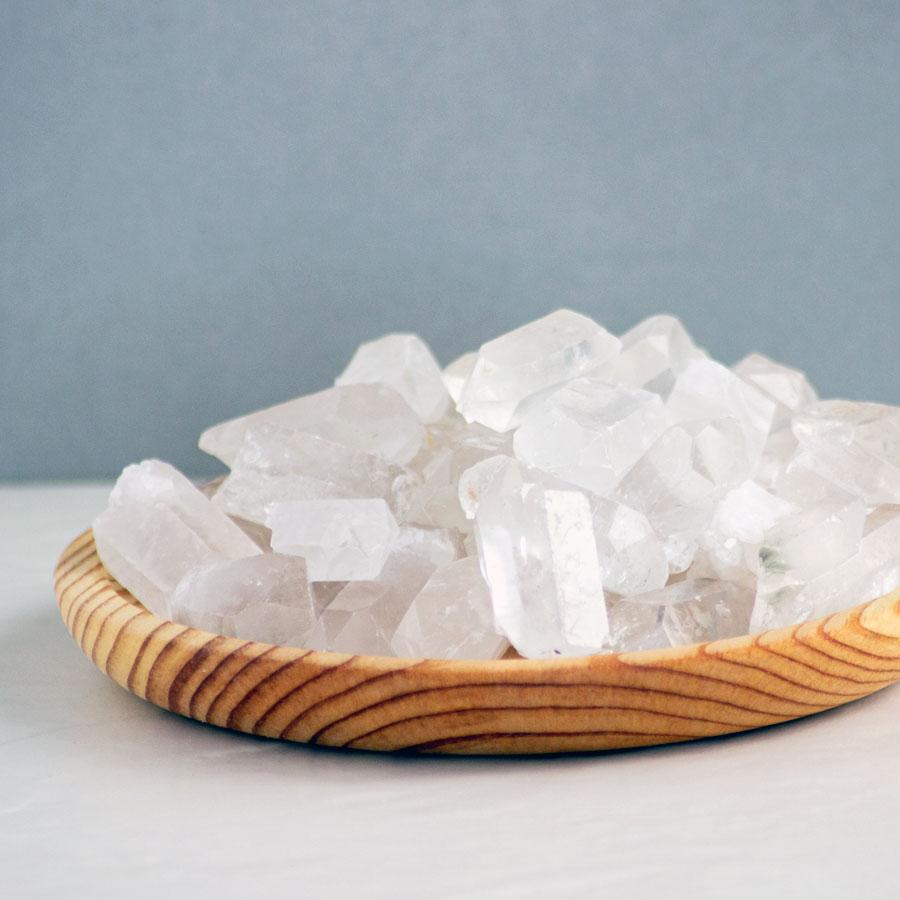 pontas de quartzo cristais da alma