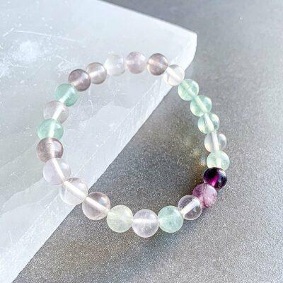 pulseira de fluorite surya cristais