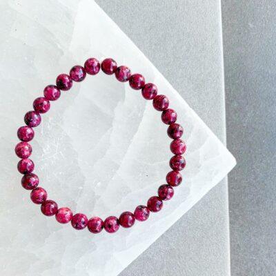 pulseira de rodonite surya cristais