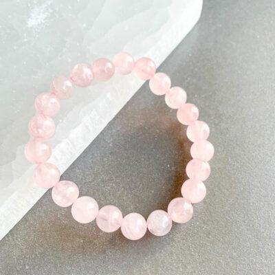pulseira de quartz rosa surya cristais