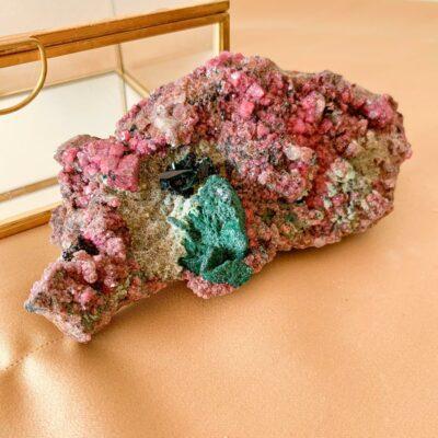 cobalto calcite com malaquite primária surya cristais
