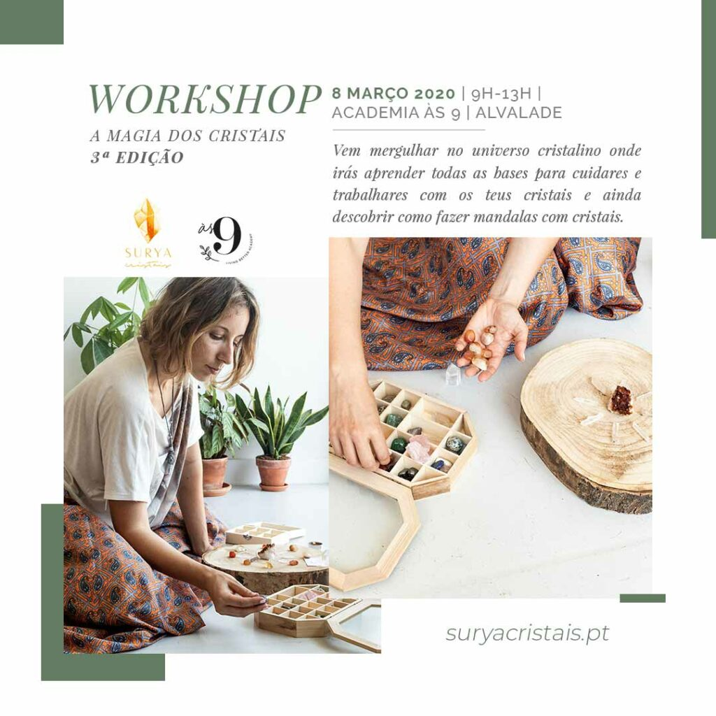 workshop de cristais surya cristais
