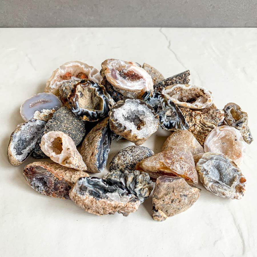 geode de agata natural surya cristais