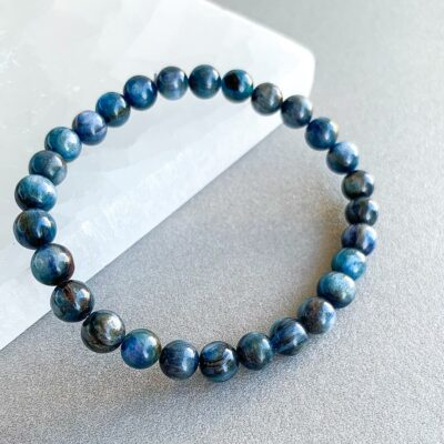 pulseira cianite azul surya cristais