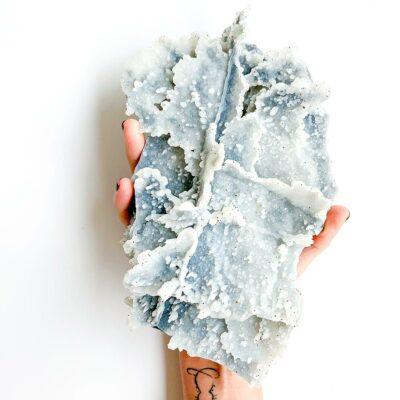 calcedonia planeta azul surya cristais
