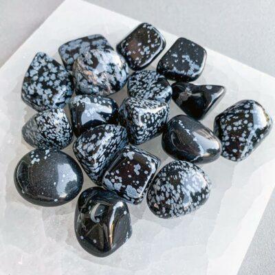 obsidiana floco de neve surya cristais