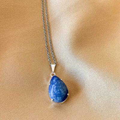 colar olho de quartzo azul surya cristais