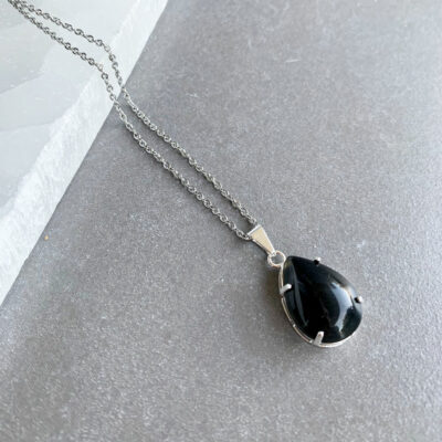 colar onix banhado a prata surya cristais