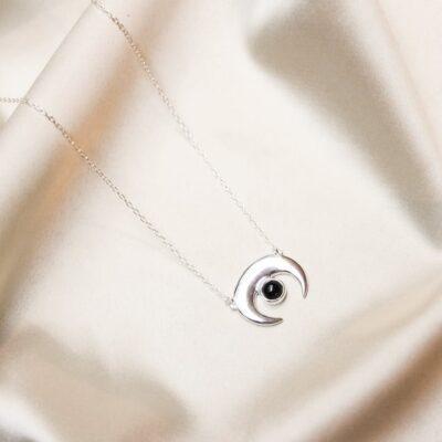 colar de onix e prata surya cristais
