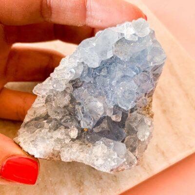 drusa de celestite surya cristais