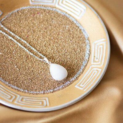 colar quartzo leitoso surya cristais