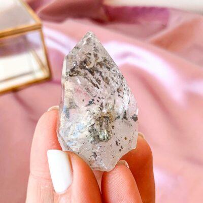quartzo com turmalina negra
